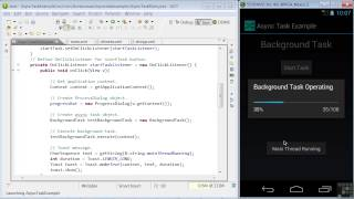 Android App Programming | Threads And Async Tasks