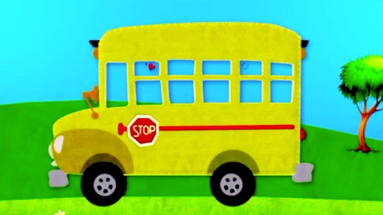Kids' cartoon. Learn to draw a school bus. - YouTube