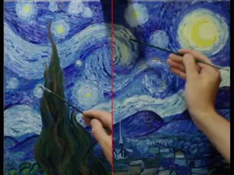 «Звездная ночь» Ван Гога за 2 часа. Алексей Шандин