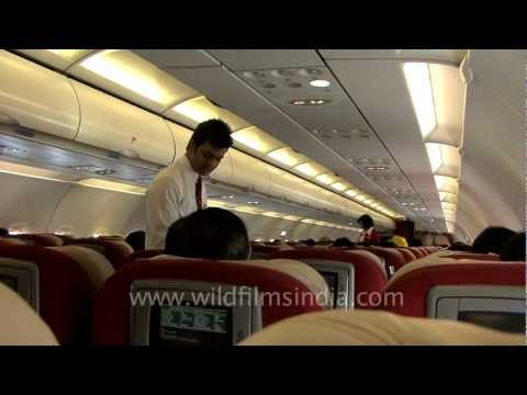 Safety instructions on board Kingfisher Airlines A320