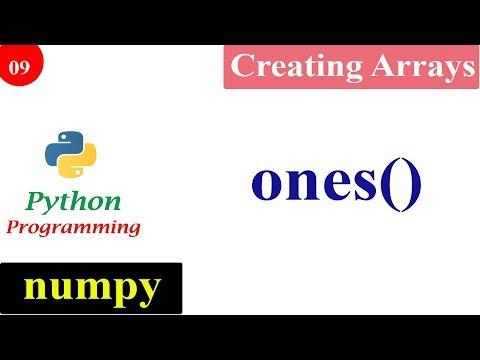 Numpy Ones Function | Creating NumPy Arrays | Python Tutorials thumbnail