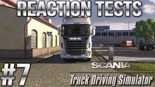 Reaction Tests! - Scania Truck Driving Simulator