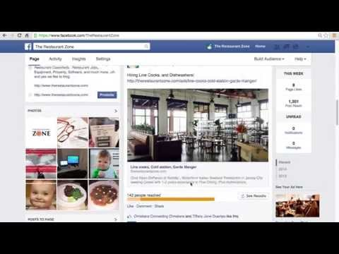 How to use facebook to post a job