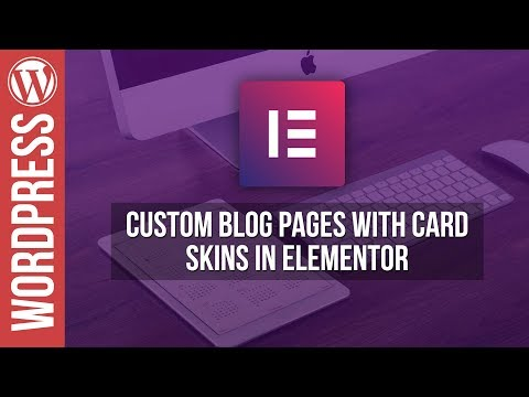 Elementor: Post Cards Blog Layout - Wordpress Tutorial