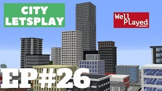 Minecraft Building A Skyline! City Letsplay Ep26