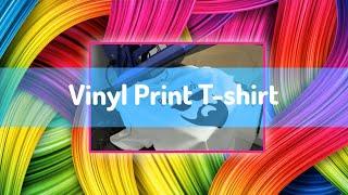 Make a vinyl print t-shirt from scratch - software design, using the cutter, weeding & heat pressing