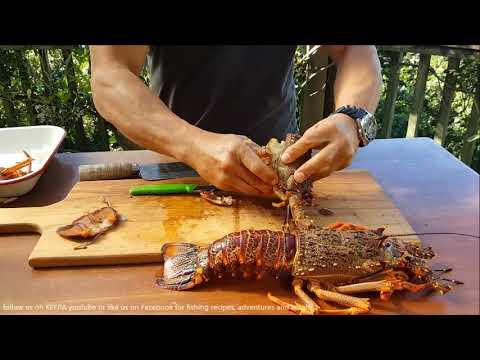 NZ Crayfish Preparation