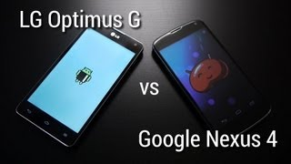 Google Nexus 4 vs LG Optimus G