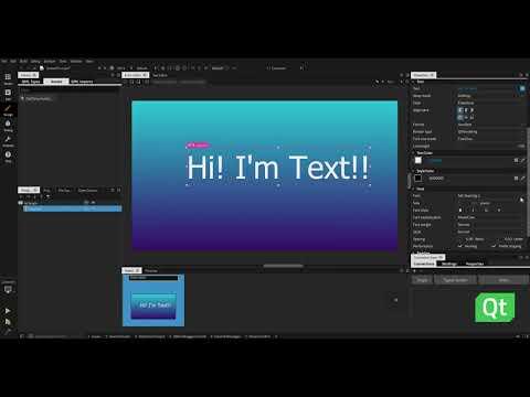 Qt Design Studio QuickTip: Text Element