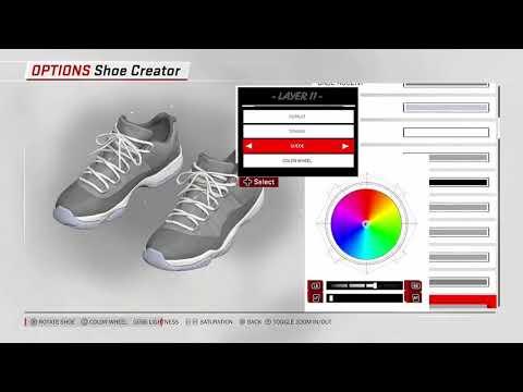 6414a74a6f48 NBA 2K18 Shoe Creator Air Jordan 12 Low  Wolf Grey