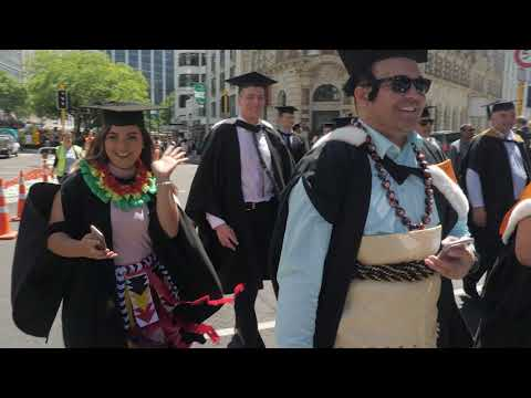 Victoria University of Wellington's 2017 graduation parade