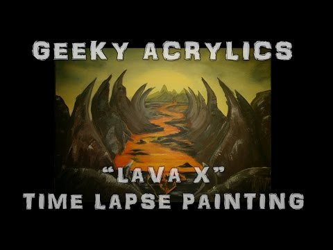 Lava X Time Lapse Acrylic Painting