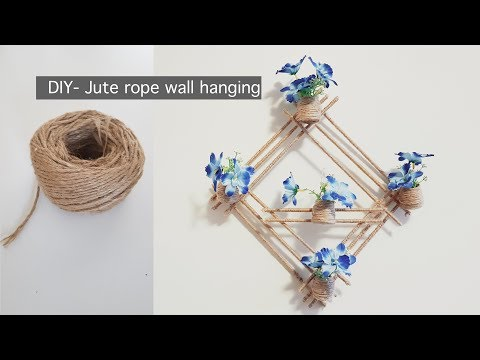 DIY Wall Hanging with Jute Rope