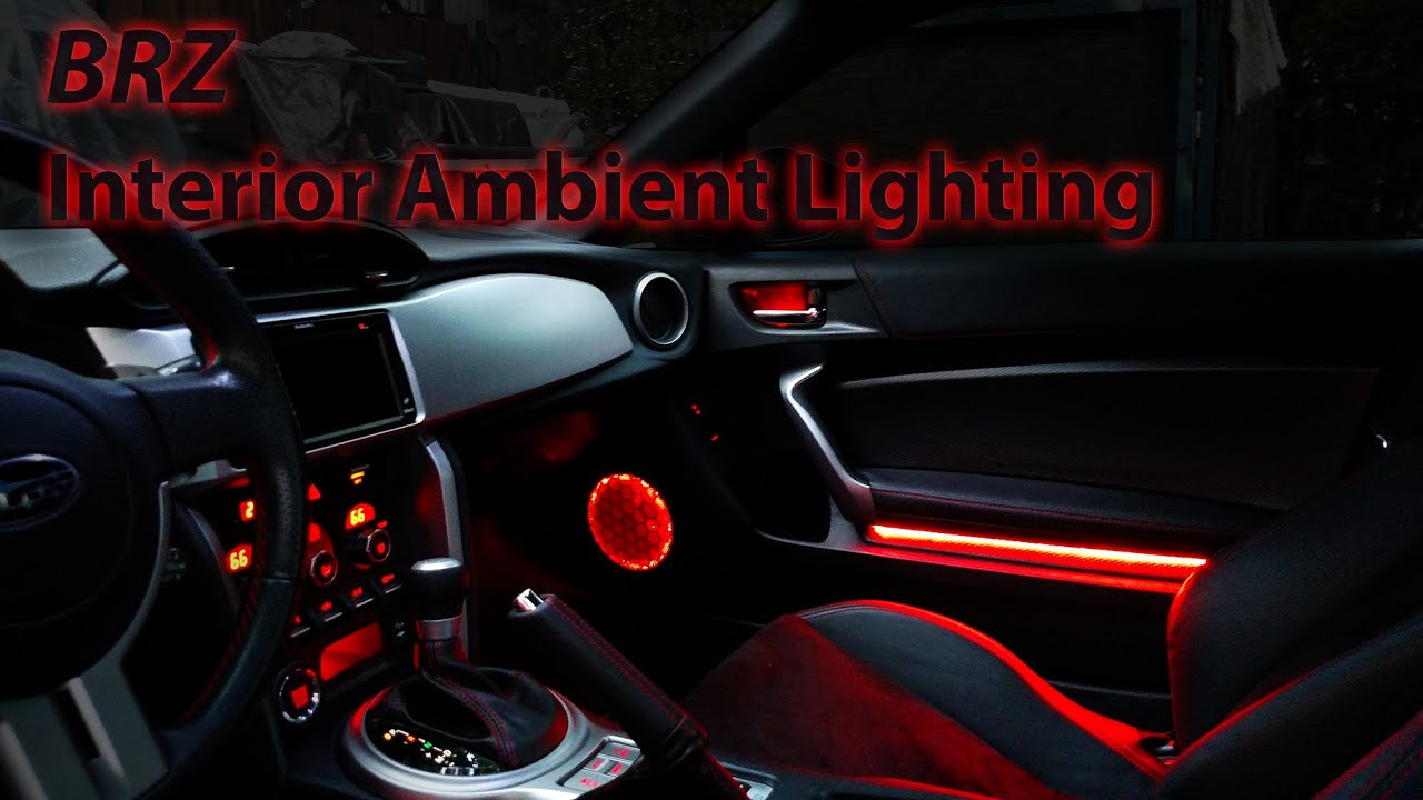 BRZ Ambient lighting Installed - YouTube