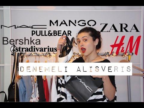 Denemeli Kıyafet Alışverişi&Kozmetik Zara,Pull&Bear,Bershka,Mango,H&M,MAC  Melis Helvacı