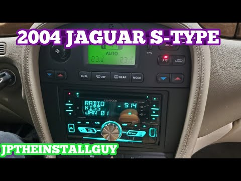 2003-2008 jaguar s type radio removal and double din install