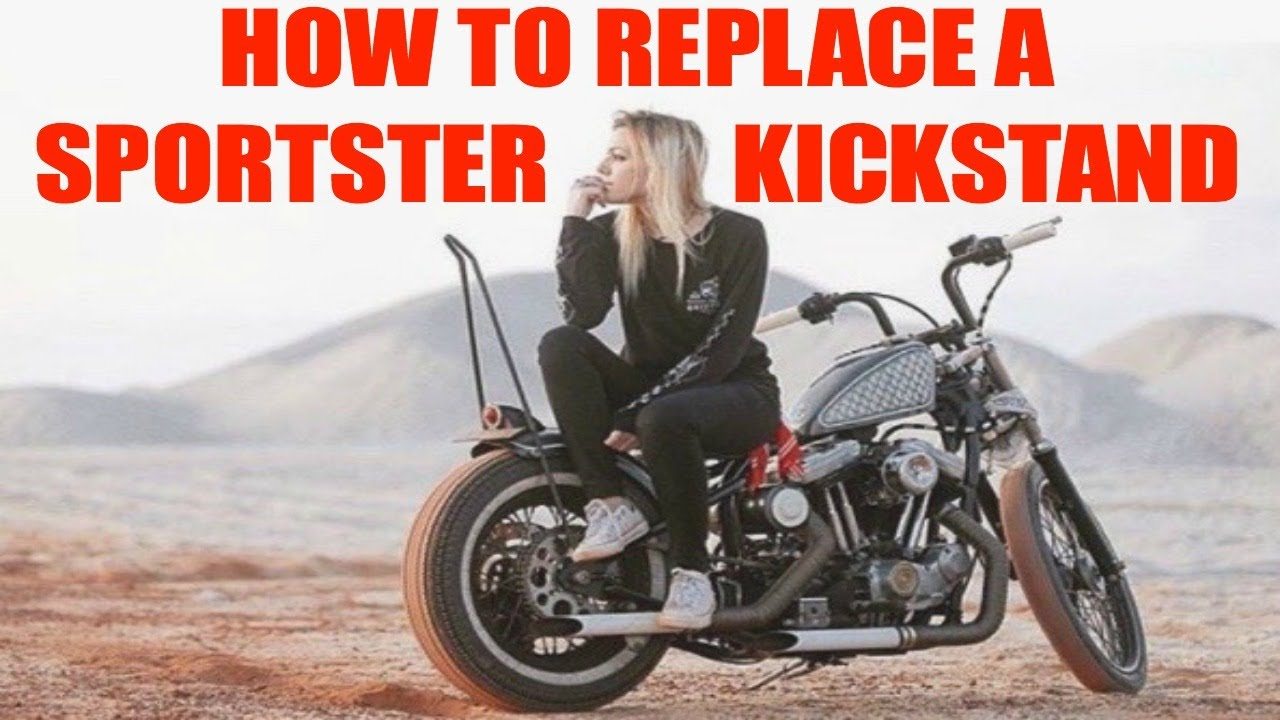 How To Replace A Kickstand On A Hd Sportster Youtube