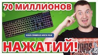 КАК Я ПОПРОБОВАЛ Kailh Red! ✔ Обзор Игровой Клавиатуры Asus Cerberus Mech RGB!