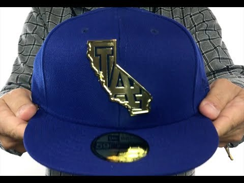 8c8550e2d97 Dodgers  GOLD STATED METAL-BADGE  Royal Fitted Hat by New Era - YouTube