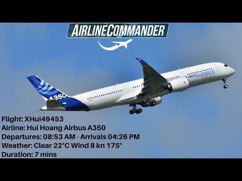 Airline Commander Airbus A350 (DPS) Denpasar (MEL) Melbourne Full Landing