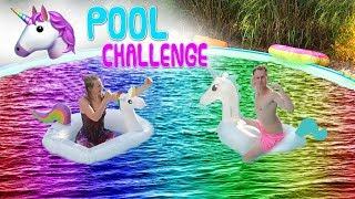 EINHORN POOL CHALLENGE 🦄💦