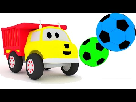 Thumbnail: Play football and learn colors with Ethan the dump truck | Educational cartoon for children 🎨🚚