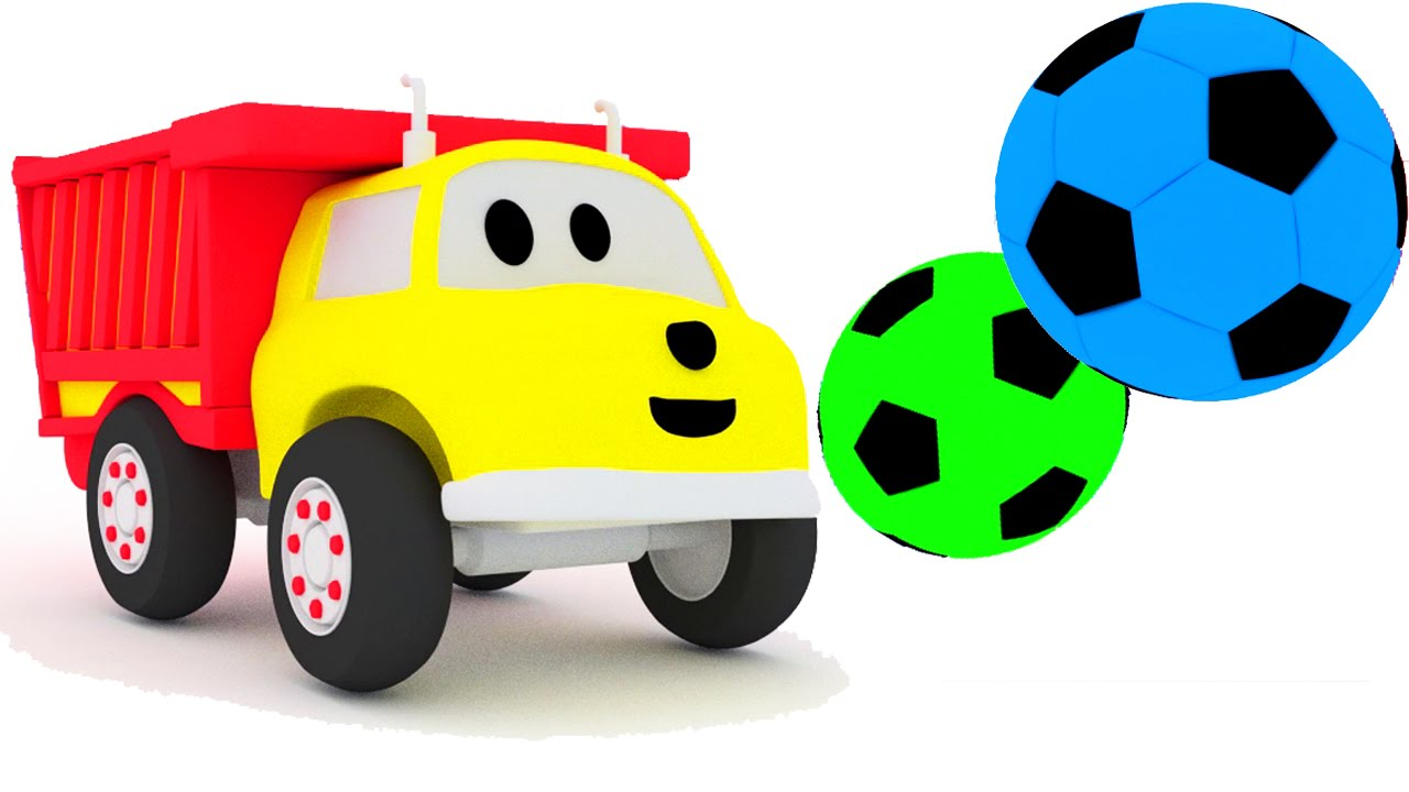 play football and learn colors with ethan the dump truck