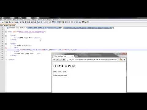 HTML 5 Tutorial: Changing HTML 4 Pages To HTML 5 Pages