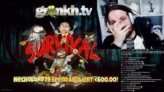Gronkh bekommt eine 600€ Donation