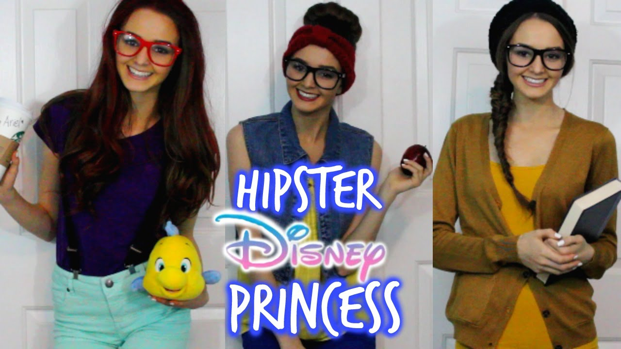 sc 1 st  YouTube & DIY Hipster Disney Princess Costumes? | thekelliworldtv - YouTube
