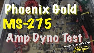 Video 1992 Phoenix Gold MS-275 Overview and Amp Dyno Test download MP3, 3GP, MP4, WEBM, AVI, FLV Juni 2018