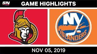 NHL Highlights   Senators vs. Islanders – Nov. 5, 2019