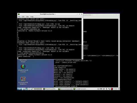 fischertechnik TXT controller : Discovery - using Python2 7 #41 - sound, sonar & touch sensors