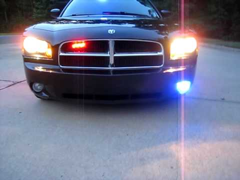 Dodge Charger Police Lights And Sirens Youtube