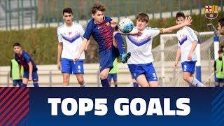 Gambar cover FCB Masia - Academy: Top 5 goals 3-4 March
