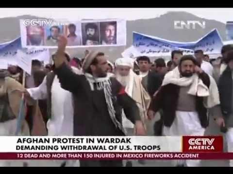 Afghan protest in Wardak  demanding withdrawal of U.S. troops & its NA slaves