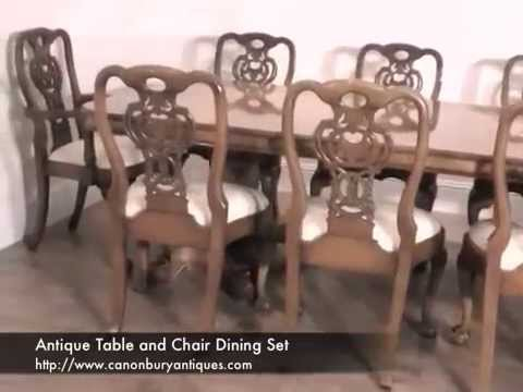 Antique Table and Chair Dining Set