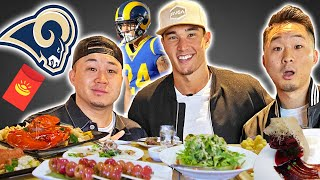 Lunar New Year FEAST w/ Asian NFL PLAYER Taylor Rapp | Fung Bros