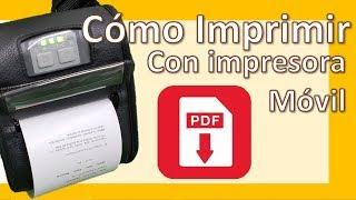 Cómo Imprimir Documentos PDF y otros en impresora térmica portátil Bluetooth