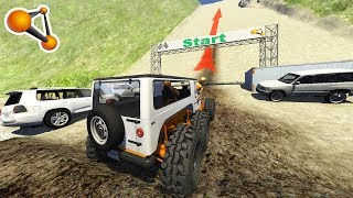 King of the hill (Uphill Crashes) Beamng Drive