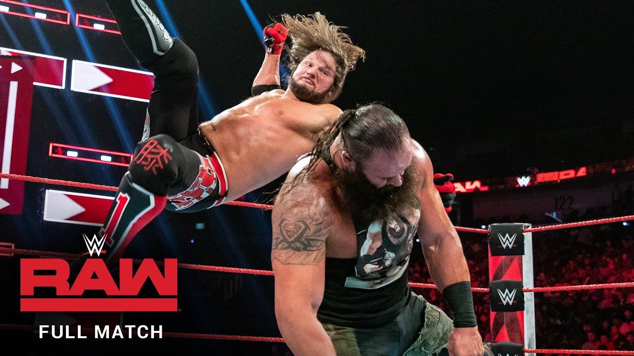 Download FULL MATCH - AJ Styles vs. Braun Strowman – United States Title Match: Raw, August 26, 2019
