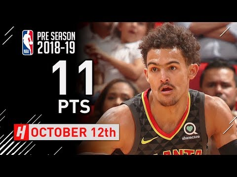 Trae Young Full Highlights Hawks vs Heat 2018.10.12 - 11 Pts, 5 Ast in 3 Qtrs