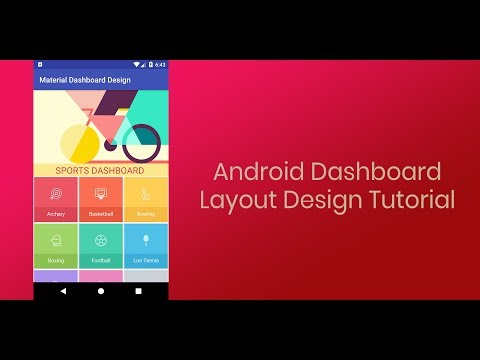 Android Dashboard Layout Design