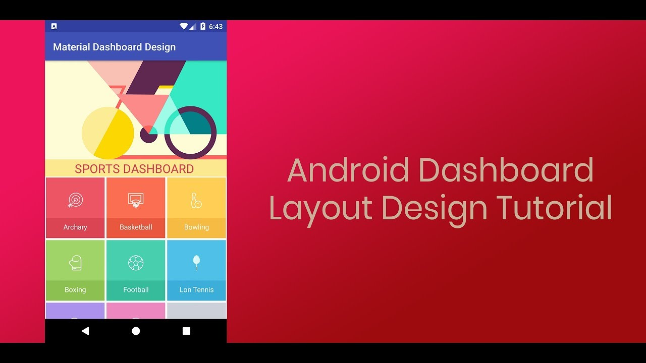 android dashboard layout design youtube
