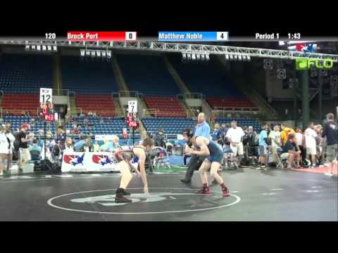 Cadet 120 - Brock Port (Pennsylvania) vs. Matthew Noble (New Jersey)