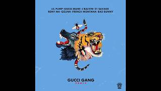 lil pump   gucci gang remix ft  bad bunny french montana j balvin gucci mane 21 ozuna