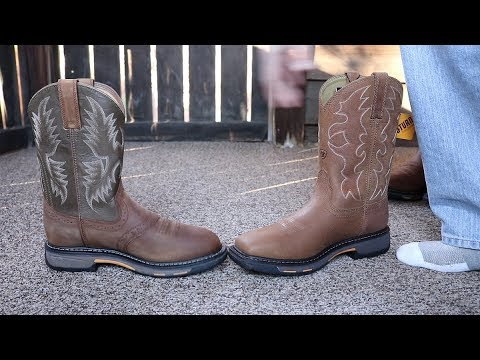 Ariat Workhogs: Square Toe VS Round Toe Comparison Video.