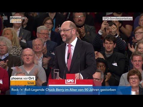 Sonderparteitag der SPD: Rede von Martin Schulz am 19.03.2017