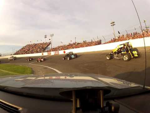 Lawrenceburg Speedway Fire Rescue pushing at the 2017 Little 500 at Anderson Speedway