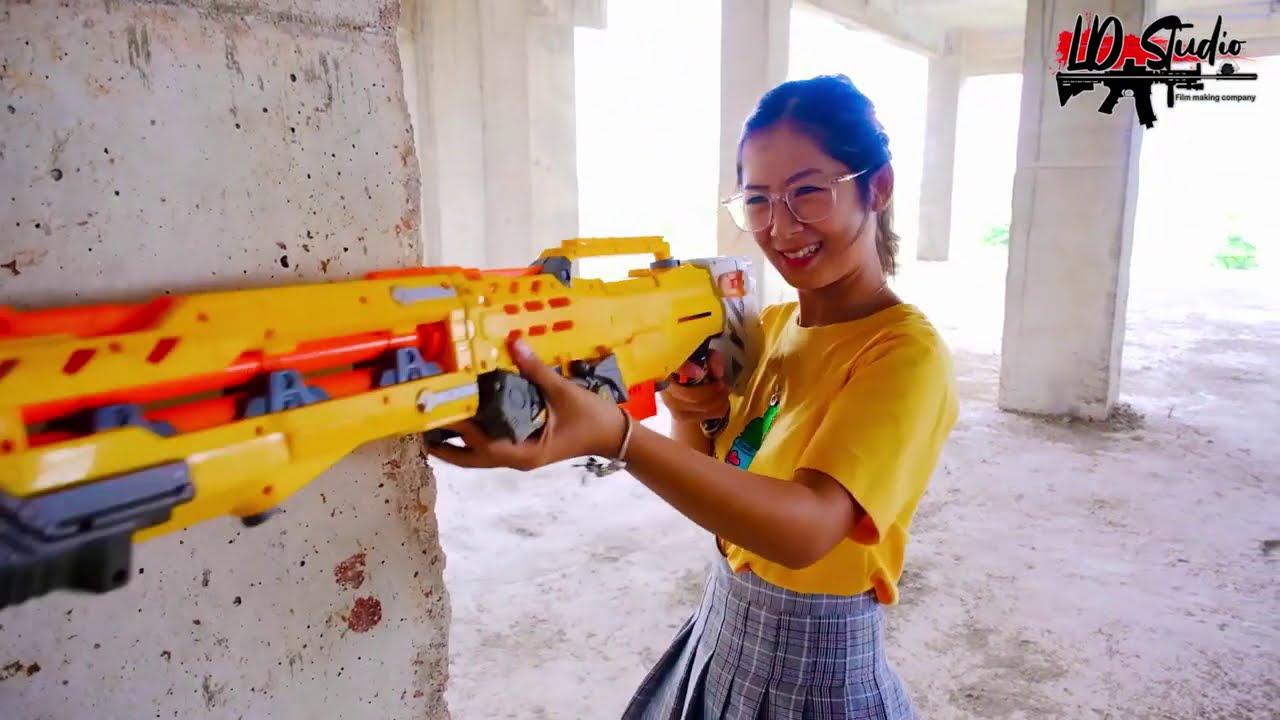 XPK Nerf War : SEAL X Warriors Nerf Guns Fight Dr.Lee Crazy Chase Gun Thieves